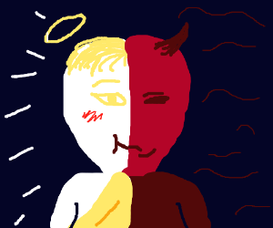 half devil half angel passive aggression