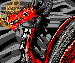 Adorable red dragon