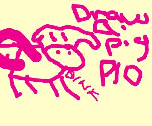 draw a pig PIO