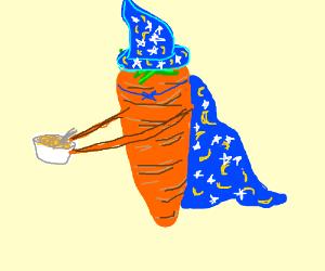 Wizard carrot with porridge