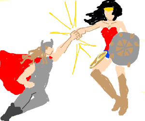 thor vs wonderwoman who wins (i think thor)pio