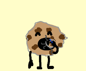 cookie eating a cookie