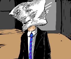 Pillow-head man.