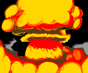 """nuclear explosion """"It goes BOOM!"""""""