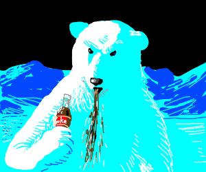 Polar Bear Hates Coca-Cola