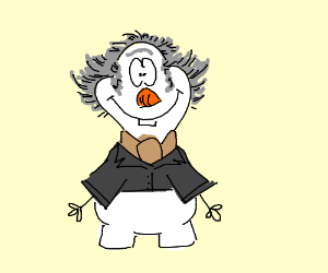 Count Olaf fused with Olaf from frozen
