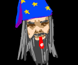 Angry wizard with a kazoo