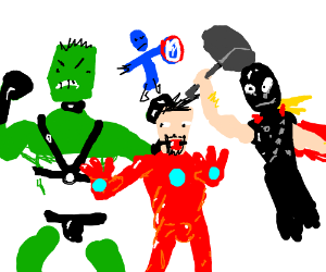 The avengers start wearing kinky rubber suits