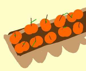 An egg carton but it's filled with pumpkins