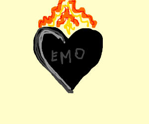 Edgy Emo Heart