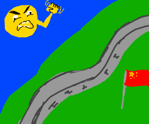 The sun threatening china with its fist