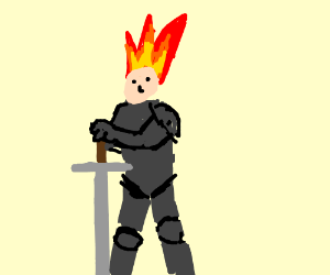 Brave knight with hair like fire