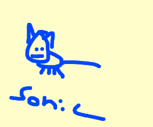 blue cat called Sonic