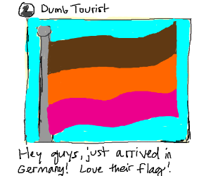 Germany's flag is TOTALLY this color (Shhhh!)