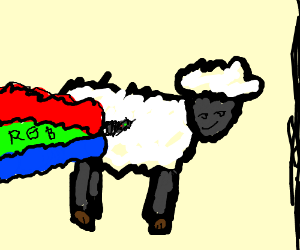 Shredding wool makes a rainbow