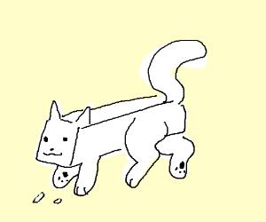 Eraser cat ( the battle cats) - Drawception