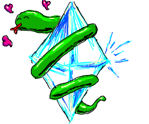 Snake in love with diamond