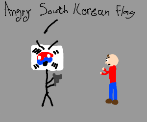South Korea attacks people