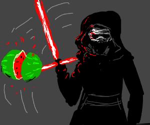 kylo ren fruit ninja