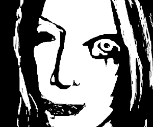 Creepy shadow lady