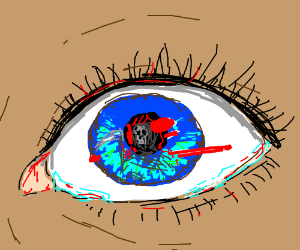 death's reflection in eyes