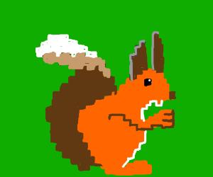 pixelate squirrel
