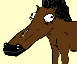 Why the long face, Mr. Horse? :(