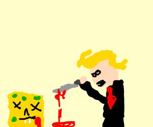 Donald Trump stabs Spongebob