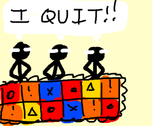 three quitters in a quilt
