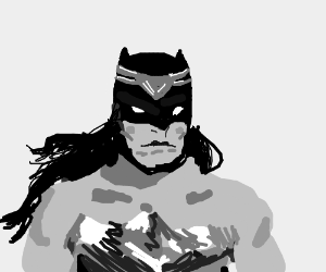 Batman dressed as Wonder Woman
