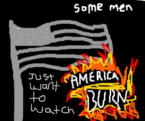 Some men just wanna watch America burn...