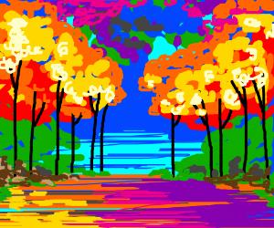 Leonid Afremov Style Painting