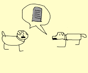 two dogs debate the 10 commandments