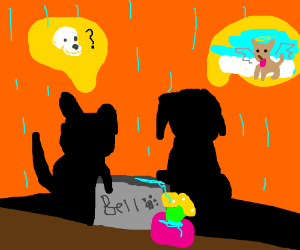 Two dogs discuss death