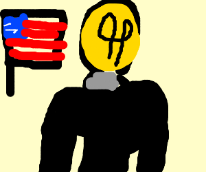 Mil wins !! bulb guy with american flag