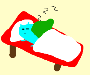 Well drawn Bulbasuar going to bed(Nice art)