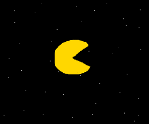 pacman in space