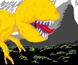 Lemon monster in the mountains