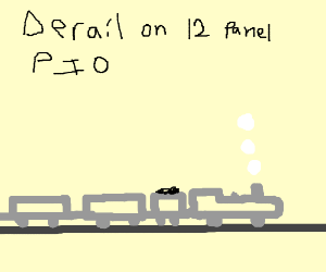 A train, (DERAIL ON 12, PIO) 1/12
