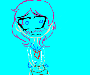 Blushy schoolgirl