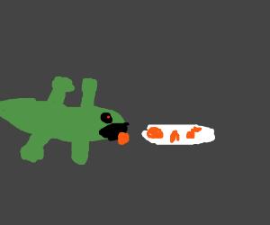 Evil Crocodile Devours Chicken Nuggets