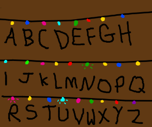 Stranger Things Christmas Light Letter Thing