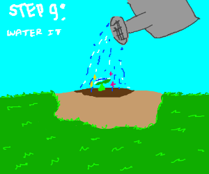 Step 8: Plant magic seeds in the dirt
