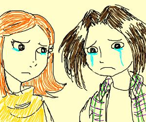 2 people are sad