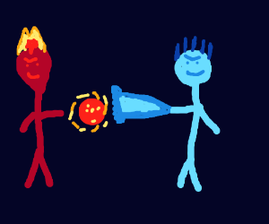 epic fire person vs water/ice person