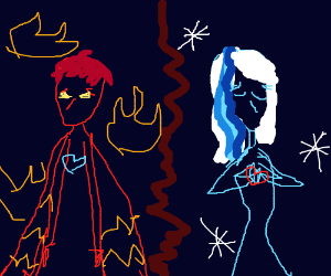 Fire Man, Ice Woman