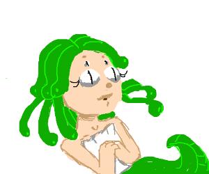 Medusa has a baby.
