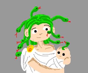 Medussa and child