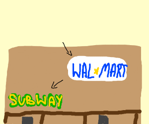 Walmart with a subway inside