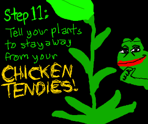 step 10: talk to your plants